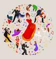 spanish girl flamenco dancer in red dress vector image