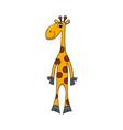 cheerful giraffe isolated vector image