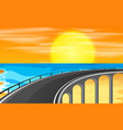 a highway road to the beach vector image