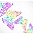 abstract background with colorful butterflies of vector image