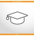 academic cap web icon vector image