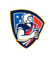 American Football Quarterback Shield vector image vector image
