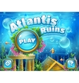 Atlantis ruins - boot screen vector image vector image