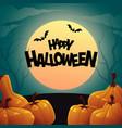 background of orange autumn pumpkins happy vector image vector image