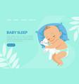 basleep landing page template adorable bain vector image