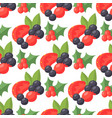 berries seamless pattern vegetarian berry vector image