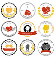Boxing labels and badges set vector image