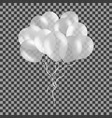 bunch of white helium balloons isolated on vector image vector image