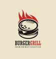 burger logo design idea vector image vector image