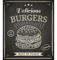 burger poster vector image vector image