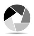 camera shutter icon vector image vector image