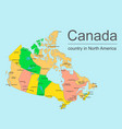 canada map with provinces and cities vector image vector image