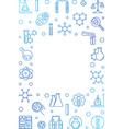chemistry vertical blue line frame vector image