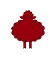 Chinese zodiac symbol red sheep vector image
