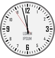 Clock with numbers vector image vector image