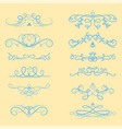 collection dividers calligraphic style vector image