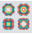 Colorful geometric ornament pattern set vector image vector image