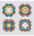 Colorful geometric ornament pattern set vector image