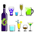 colors drinks icon vector image