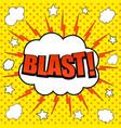 comic blast wording background vector image vector image