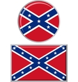 Confederate States of America round and square vector image