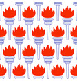 contour torch pattern vector image