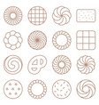 cookie cracker and biscuit outline icon set 1 vector image vector image