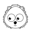 cute lion character isolated icon design vector image vector image