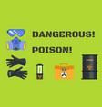 dangerous poison concept banner flat style vector image