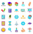 department icons set cartoon style vector image vector image