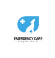 emergency care logo vector image vector image