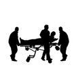 first aid crew help injured person after accident vector image vector image