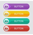 flat buttons with folder user icon vector image