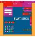 Flat Web Design elements buttons icons vector image vector image
