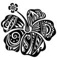 Hibiscus black and white vector image vector image