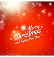 Holidays card design with text - Merry Christmas vector image vector image