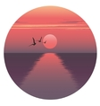 horizontal of sunset over the vector image vector image