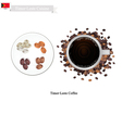 Hot Coffee A Popular Drink in Timor-Leste vector image vector image