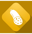 icon of Sausages with a long shadow vector image vector image