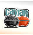 logo of caviar vector image