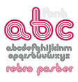 Lowercase funky disco alphabet letters set trendy