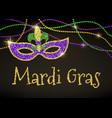 mardi gras card vector image vector image