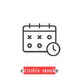 minimal editable stroke calendar icon vector image