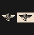 motorcycle repair service logo vector image vector image