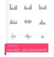 Music soundwave icon set vector image