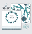 oil painted floral cards set vector image vector image