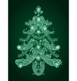 paisley christmas tree vector image vector image
