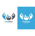 pharmacy and people logo combination vector image vector image
