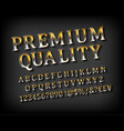 premium quality gold font vector image vector image