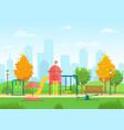 public city park vector image vector image